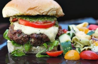 special burgers with pesto